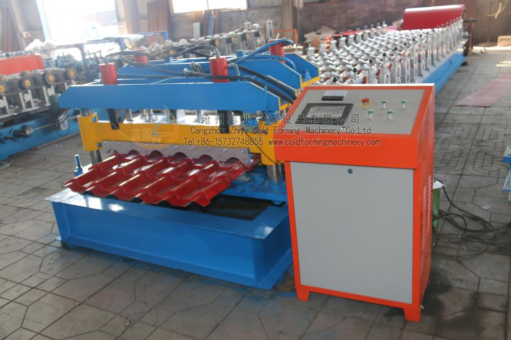 Hydraulic Press Metal Roof Glazed Tiles Machinery