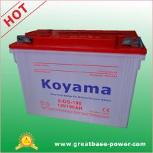 Bateria seca 180ah 12V do triciclo profundo do ciclo