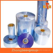 Film rétractable à chaud en PVC à rouleaux comme largeur et poids différents