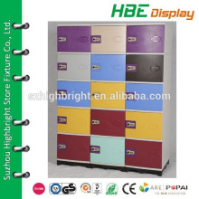 contemporary design waterproof plastic club storage locker