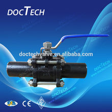2PC ANSI 150LB Butt Weld Ball Valve Made in China Zhejiang