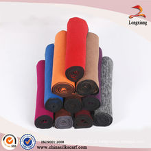 2014 fabricação de lenço de seda de cor sólida personalizada nova moda