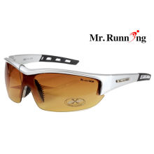 Man Polarized Fishing Sunglasses With Fashion Brown Lens , Soft Nose Pad