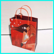 Fashion design accept custom full color printing reusable plastic shopping bag for suit