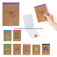 Förderndes gewundenes Notizbuch der gebundenen Ausgabe mit kundengebundenem Logo