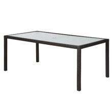 Патио набор прямоугольник ротанга плетеная сад открытый обеденный стол