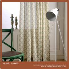 Tejido bordado de la cortina de la gasa del voile, tela de la cortina del organza del bordado