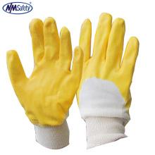 NMSAFETYnovo produto 100% algodão luva de borracha industrial