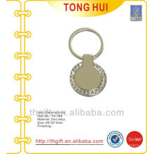 Round shape Jewel stones metal keychains w/any different requests