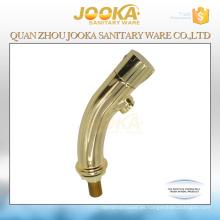 Grifo de lavabo de lavabo acabado en oro de una sola manija para baño