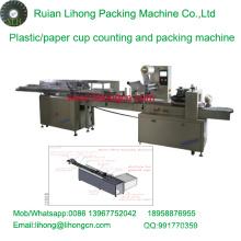 Lh-450 Einzeilige Einweg-Kaffeetasse Zähl- und Verpackungsmaschine