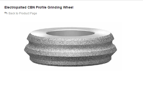 Electropalted CBN Profile Grinding Wheel
