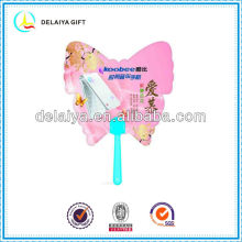 Butterfly plastic hand fan