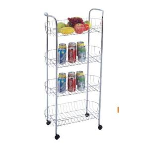 4 Tier Metal Mesh Storage Cart