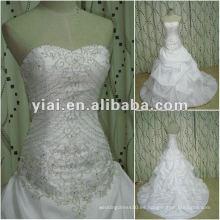 JJ2649 Vestido de boda nupcial del diseñador blanco del bordado de la tira del vestido de bola del envío de la gota 2012