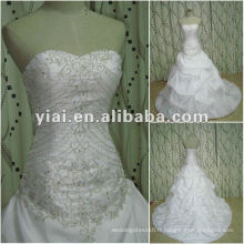 JJ2649 Drop Shipping Ball Gown broderie design blanc Robe de mariée en mariée 2012