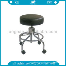 AG-Ns001 Durable Leather Chrome Paint Frame Doctor Stool