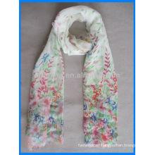 Lady print polyester scarf dress pattern