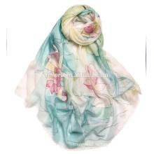 Auftragsproduktion High-End handgemalten Schal reine Kaschmir-Schal SWC717 Chinesische klassische handbemalte Schals