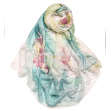 Order production High end hand-painted scarf pure cashmere scarf SWC717 Chinese classic hand-painted shawls