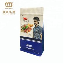 Nahrungsmittelgrad-Lebensmittelgeschäft-wiederverschließbare hohe Sperre Kundenspezifische Aluminiumfolie-Taschen mit Reißverschluss mit Design für Nüsse