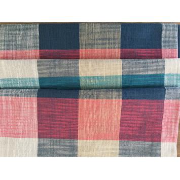 Fashion Plaid Color Bamboo Cotton Fabric