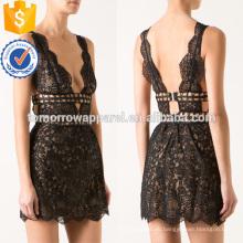 V-образным вырезом без рукавов Черное кружево короткие мини летнее платье для девочки сексуальное Производство Оптовая продажа женской одежды (TA0012D)
