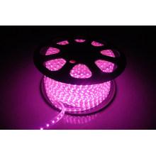 Luz de tira do diodo emissor de luz de SMD5050 DC220V com iluminação cor-de-rosa