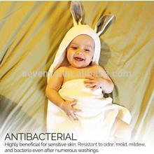 Органических бамбука Baby капюшоном Кролик полотенце и набор мочалка, очень мягкий, густой, антибактериальный и гипоаллергенный