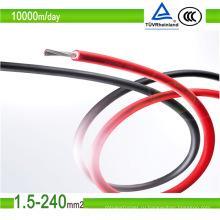 Луженый медный кабель для солнечных батарей 6,0 мм2 Кабель для солнечных батарей постоянного тока (6 мм)
