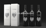 2016 Customized Wholesale Luxurious Packaging Cardboard red wine Gift Box from audited factory directly sale