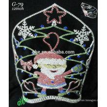 Nouveaux designs rhinestone royal accessories wholesale tiara Santa Claus crown