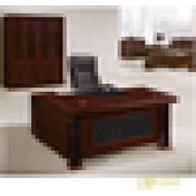 Mesa de escritório curvada mesa de escritório de alto brilho mesa de escritório única