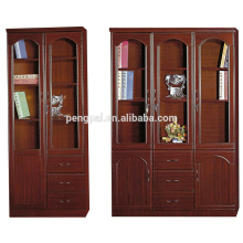 white antique wooden bookcase with photos