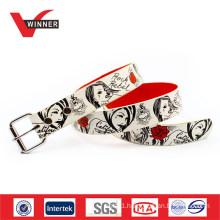 Factory Made Custom Digital Printing PU Men Belt