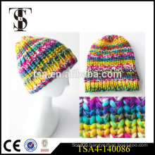 fashion winter hat for young girls colorful knitted women winter beanies