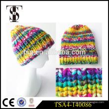 Mode Winter Hut für junge Mädchen bunte gestrickte Frauen Winter Beanies