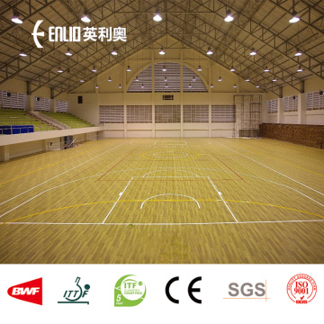 Plancher de terrain de basket-ball de PVC de surfaces sportives de PVC