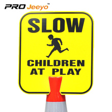 please+slow+down+reflective+kids+safety+aluminum+sign