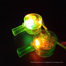colorido Light up assobiar colar