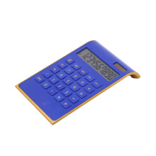 Elegant Design Blue Tilted LCD Display 10 Digits Calculator