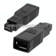 Firewire 1394 9P Stecker auf 6P weiblichen Adapter großen Typ