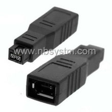 Firewire 1394 9P male to 6P female adapter big type