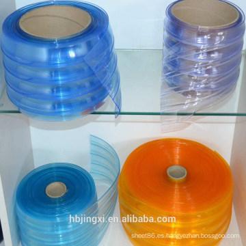 Hoja / rollo / estera suaves acanalados coloridos de la cortina del PVC