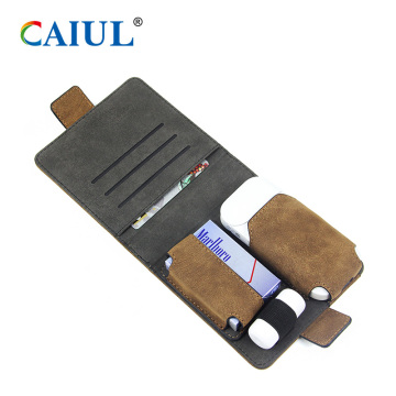 Funda de cigarrillo PU antigua mate IQOS 2.4