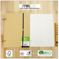 Wholesale Price Retro Kraft Coil Sketchbooks A4 Drawing Set with Pencil