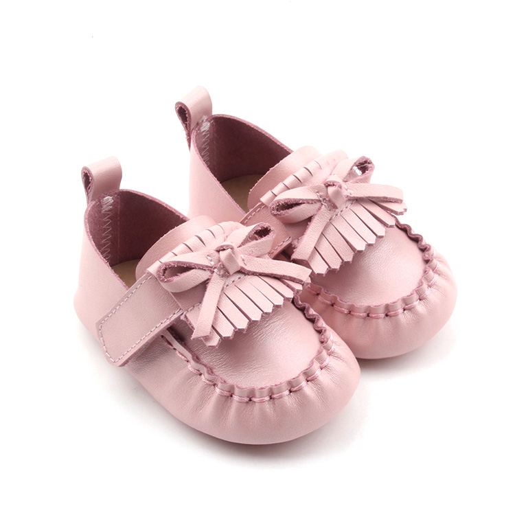 Unisex Leather Baby Moccasins Slip on Toddler shoes