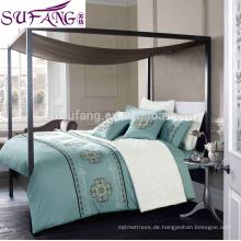 Alibaba China Suppiler Ethnische Bettbezüge, einfarbig luxuriöse Bettwäsche-Sets Gute Qualität lange Staple Cotton Bett-Sets Bettlaken