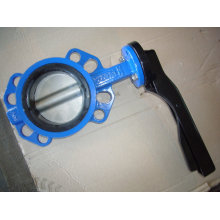 Scheibe beschichteten Nylon Wafer Type Butterfly Valve