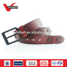 Real mens cow hide belts
